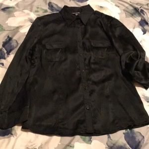 Bebe black silk button up
